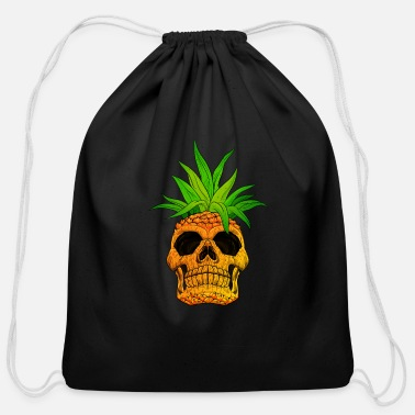 Pineapple Pineapple Skull Skeleton Funny Halloween Costume - Cotton Drawstring Bag