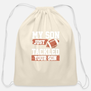 Popular My son tackle your son - Cotton Drawstring Bag