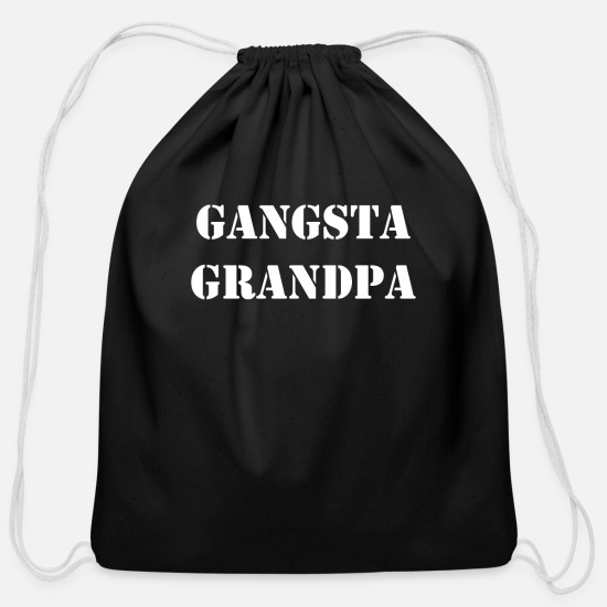 Uncle Bags & Backpacks - gangsta grandpa - Cotton Drawstring Bag black