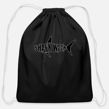 Week shark week - Cotton Drawstring Bag