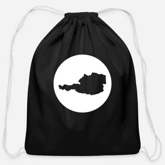 Austria Bags & Backpacks - austria - Cotton Drawstring Bag black