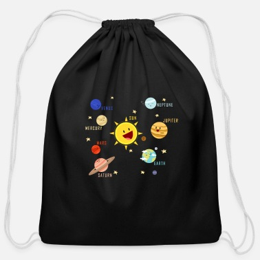 Science Planets Galaxy T-shirt Science Tee - Cotton Drawstring Bag