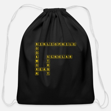 Scholar Bibliophile Bookworm Read Study Scholar - Funny - Cotton Drawstring Bag