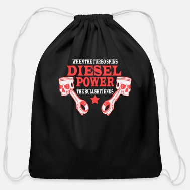 Diesel Funny Diesel Power Shirt for Diesel Lovers - Cotton Drawstring Bag