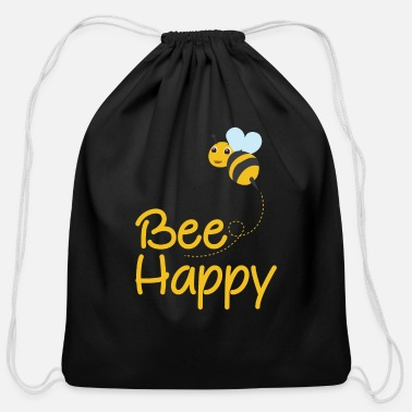 Bumble Bee Bee Happy, Bumble Bee, Bee Lover, Bumble Bee Gift - Cotton Drawstring Bag