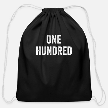 Pop Culture One Hundred, Pop Culture Gift, Urban Culture - Cotton Drawstring Bag