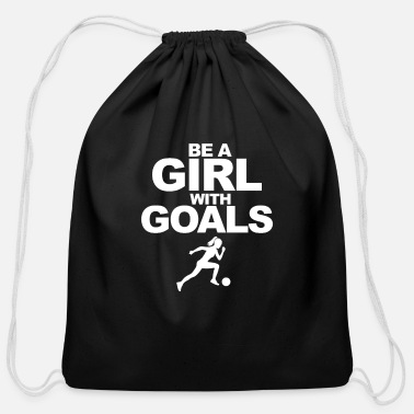 Soccer Goal Womens Soccer Girl Soccer Goals - Cotton Drawstring Bag