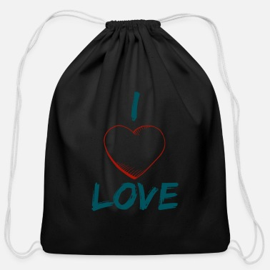 I Love i love love - Cotton Drawstring Bag