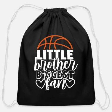 Womens Soccer Little Brother Biggest Fan - Cotton Drawstring Bag
