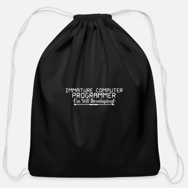 Computer immature computer programme 01 - Cotton Drawstring Bag