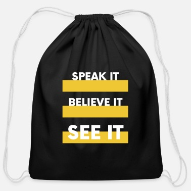Speaks SPEAK IT - Cotton Drawstring Bag
