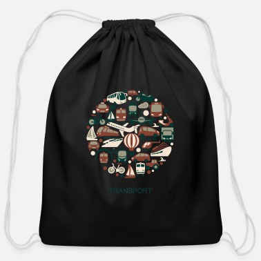 Transport transport - Cotton Drawstring Bag
