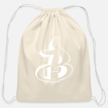 Graffiti B Graffiti letters initial alphabet gift - Cotton Drawstring Bag