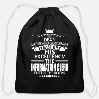 Informal Quotes INFORMATION CLERK - EXCELLENCY - Cotton Drawstring Bag
