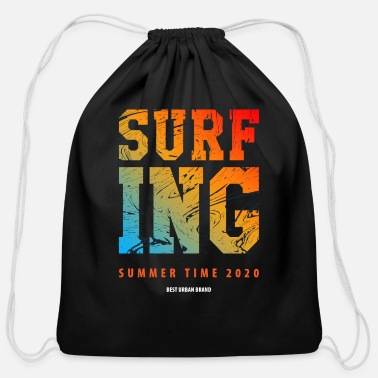 Surfing Summertime Beach Sports Hot - Cotton Drawstring Bag
