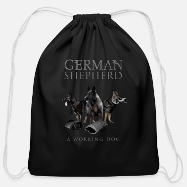 German Shepherd German Shepherd Dog - Cotton Drawstring Bag