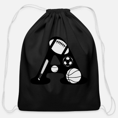 Initial initial A - Cotton Drawstring Bag