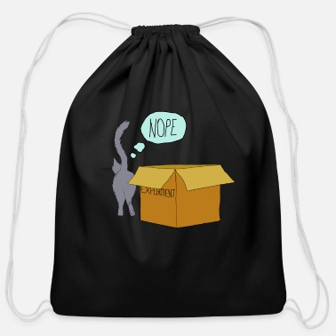Clever clever cat - Cotton Drawstring Bag