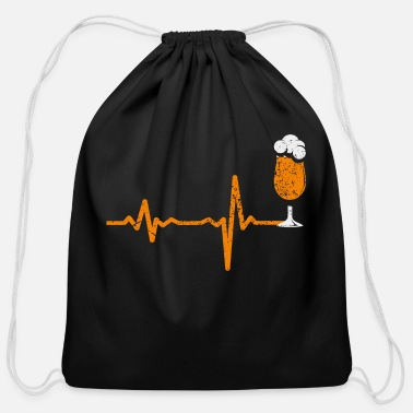 Free Beer gift heartbeat alcohol free beer - Cotton Drawstring Bag