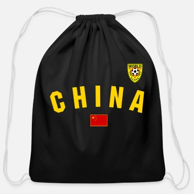 Characters Chinese Football - Cotton Drawstring Bag