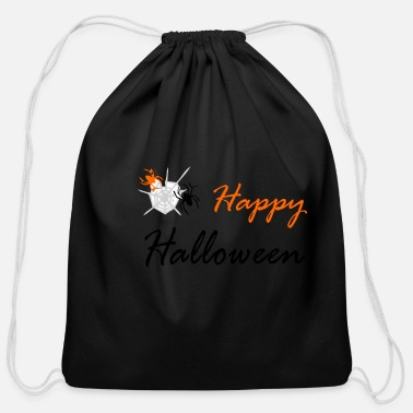 Web spider and web - Cotton Drawstring Bag