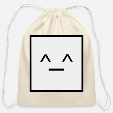 Square Square, it is a Square- Geometric Square happy - Cotton Drawstring Bag