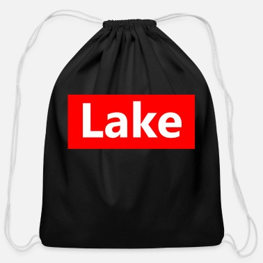 Lake lake - Cotton Drawstring Bag