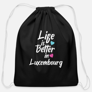 Pride Life Is Better In Luxembourg Pride - Cotton Drawstring Bag