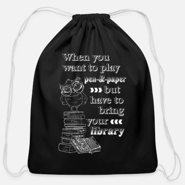 Role Playing Game Library of role playing games - white - Cotton Drawstring Bag