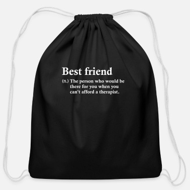 Friends Best friend best friends gift - Cotton Drawstring Bag