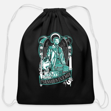 Miscellaneous Supernatural - It's funner in enochian - Cotton Drawstring Bag