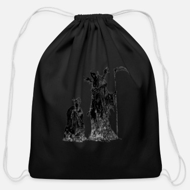 Your Name Death Knows Your Name - Cotton Drawstring Bag