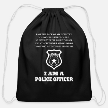Police Officer Did It Police officer - i'm the face of my country i'm a - Cotton Drawstring Bag
