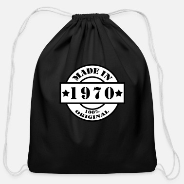 Year Of Birth MADE IN 1970 Year of birth year of manufacture - Cotton Drawstring Bag