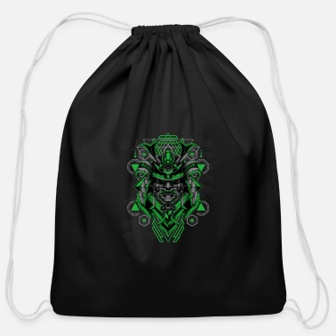 Martial Art epic samurai warrior stlyic gift idea - Cotton Drawstring Bag