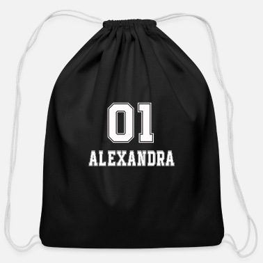 Boss name t-shirt girlfriend birthday gift Alexandra - Cotton Drawstring Bag