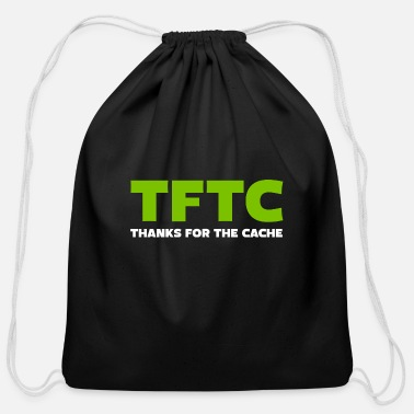 Night Cache TFTC Thanks for the cache - Cotton Drawstring Bag