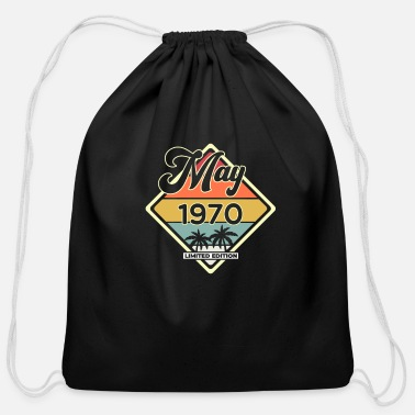 Legend Vintage May 50 Year 1970 50th Birthday Gift - Cotton Drawstring Bag