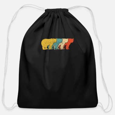 Funny Animals Vintage Retro Pop Art Bear Animal - Cotton Drawstring Bag