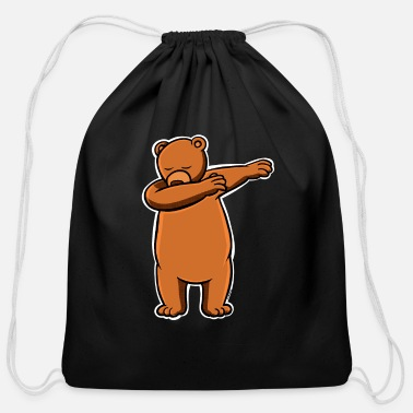 80kingz Bear Dab by 80Kingz - Cotton Drawstring Bag