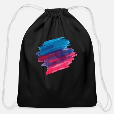 Paint Brush paint brush - Cotton Drawstring Bag