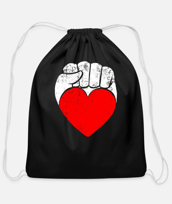 Rebellion Bags & Backpacks - Rebellion and Love - Cotton Drawstring Bag black