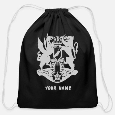 Write Your Name with your name - Cotton Drawstring Bag