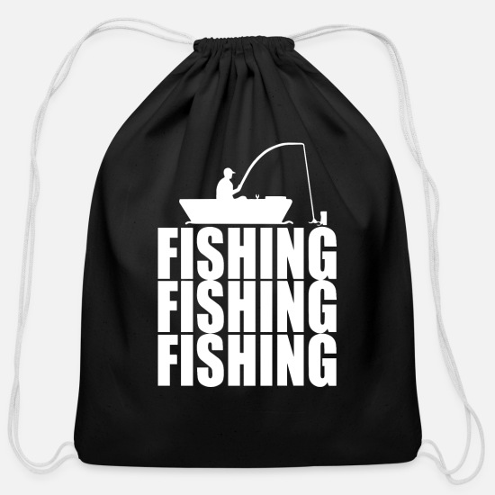 Fishing Bags & Backpacks - fishing fishing fishing 2 - Cotton Drawstring Bag black