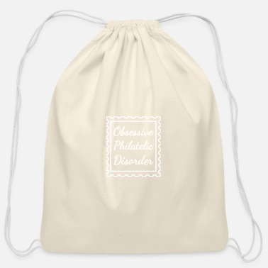 Stamp stamp stamp stamp collecting collection - Cotton Drawstring Bag