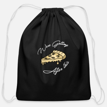 Italy Pizza - Cotton Drawstring Bag