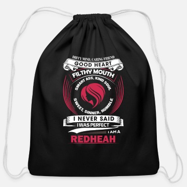 Miscellaneous Red head - I never said I was perfect red head tee - Cotton Drawstring Bag