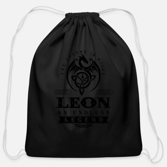 Leonardo Bags & backpacks - LEON - Cotton Drawstring Bag black