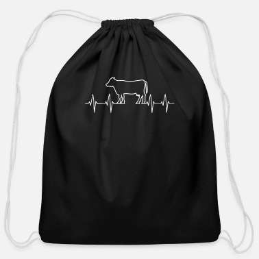 Cow Heartbeat Cow Heartbeat - Cotton Drawstring Bag