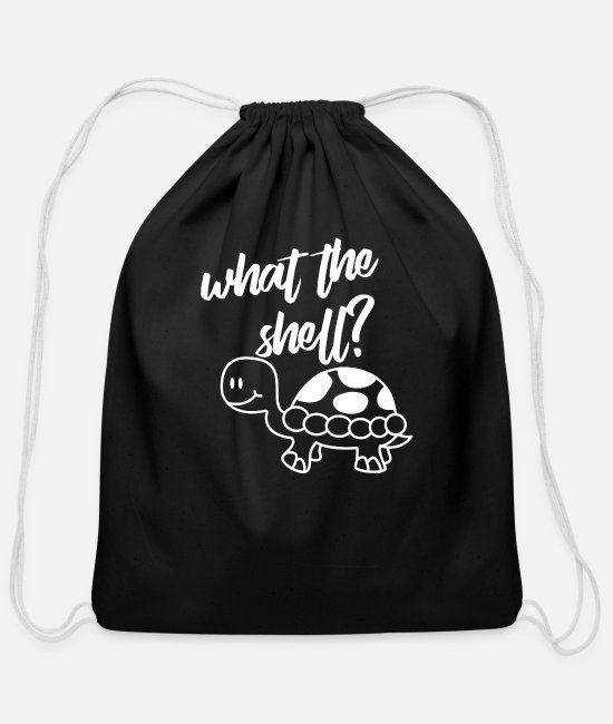 Shell Bags & Backpacks - What The Shell - Cotton Drawstring Bag black